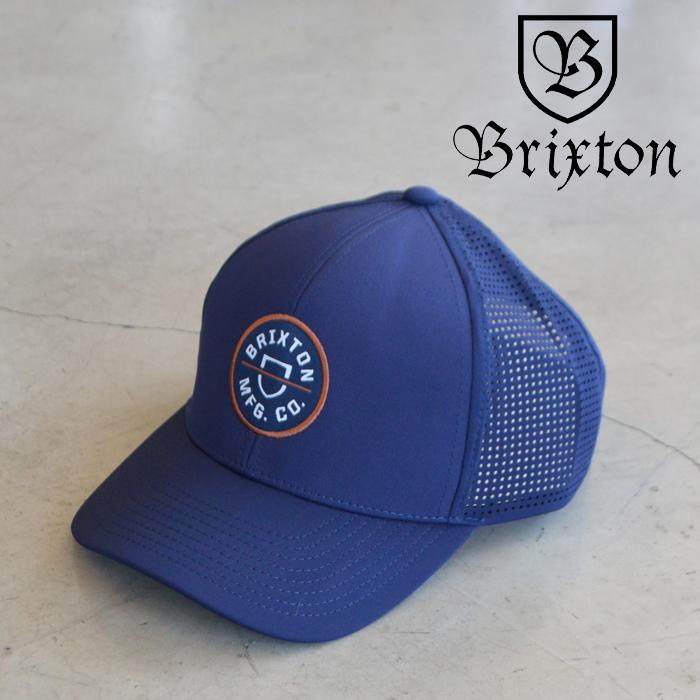 BRIXTON(ブリクストン) CREST X MP SNAPBACK (WASHED NAVY) 【キャップ 帽子】【2021 SUMMER新作】