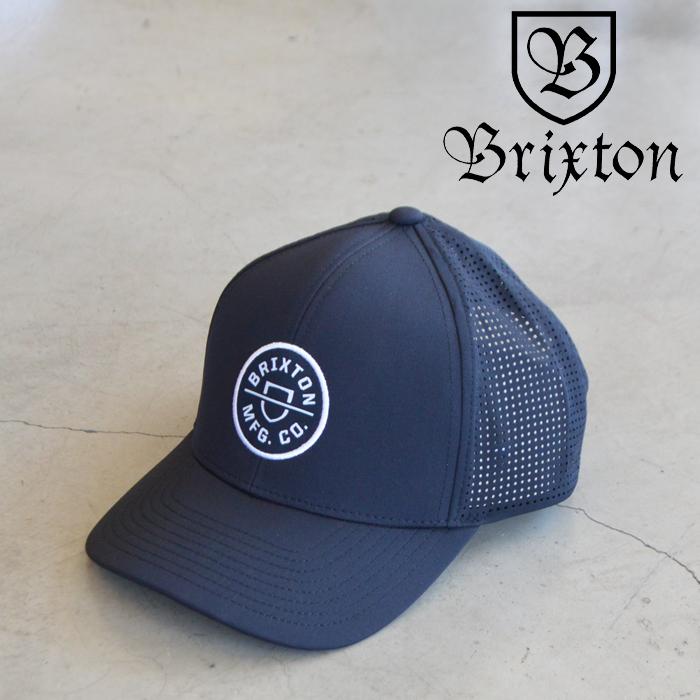 BRIXTON(ブリクストン) CREST X MP SNAPBACK (BLACK) 【キャップ 帽子】【2021 SUMMER新作】