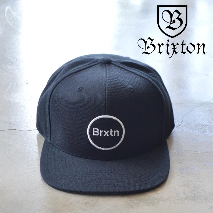 BRIXTON(ブリクストン) GATE IV MP SNAPBACK CAP 【スナップバックキャップ 帽子 6パネル】【ブラック 】【2020SUMMER新作】