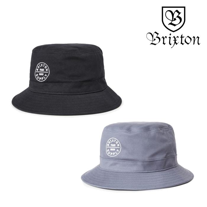 BRIXTON(ブリクストン) OATH BUCKET HAT 【バケットハット 帽子】【2020SPRING新作】【定番 ロゴ刺繍 ブラック ブルー】