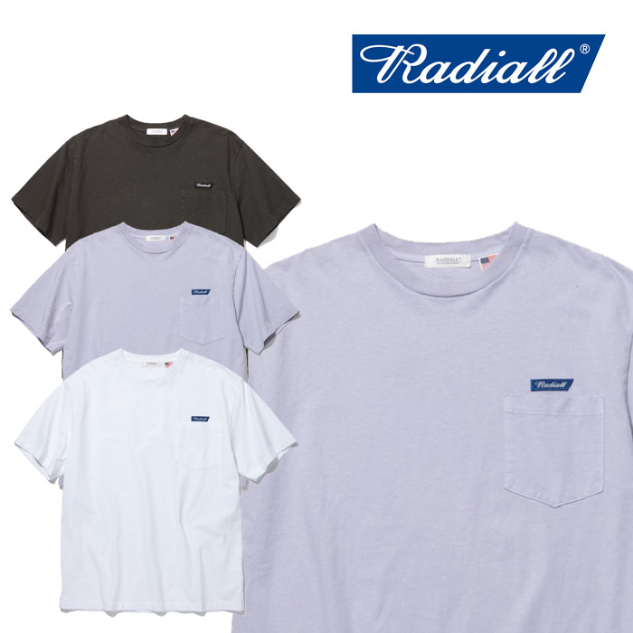 RADIALL(ラディアル) FLAGS - CREW NECK POCKET T-SHIRT S/S 【2019 SPRING&SUMMER COLLECTION】 【RAD-19SS-CUT003】【Tシャツ】