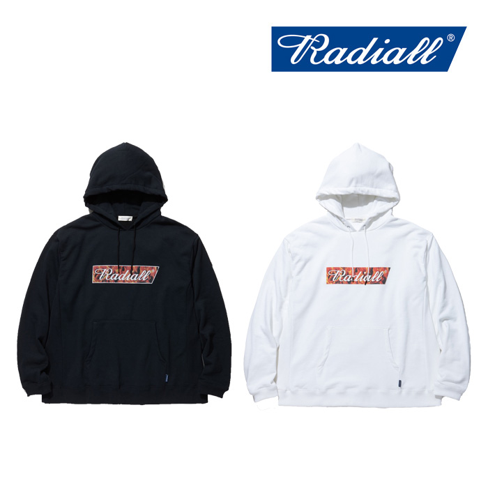 RADIALL(ラディアル) FLAME FLAGS-HOODIE SWEATSHIRT L/S 【2019 SPRING&SUMMER COLLECTION】 【RAD-19SS-CUT007】【パーカー】