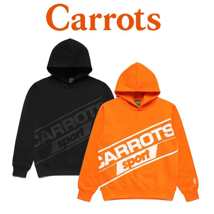 【SALE40%OFF】 CARROTS(キャロッツ) CARROTS SPORT HOODIE 【セール】【スウェット パーカー フーディー】【黒 ブラック オレン