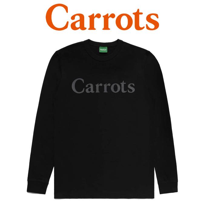 【SALE40%OFF】 CARROTS(キャロッツ) CARROTS WORDMARK LONG SLEEVE 【ロングスリーブ ロンT 長袖】【黒 ブラック】【セール】