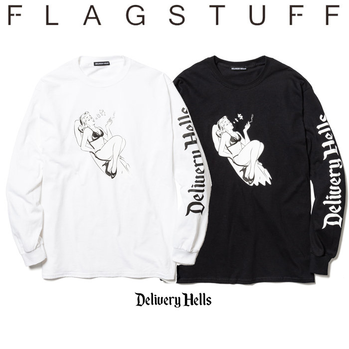 "F-LAGSTUF-F(フラグスタフ) ""$""L/S Tee 【送料無料】【19AW-DH-15】 【F-LAGSTUF-F】【FLAGSTUFF】【Delivery Hells】 【フラグ"