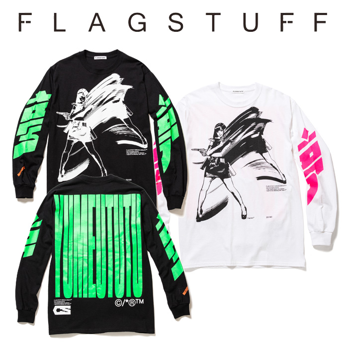 """【SALE30%OFF】 F-LAGSTUF-F(フラグスタフ) """"Dream and reality"""" L/S Tee 1 【2019 SPRING&SUMMER COLLECTION】 【セール】【F-L"""
