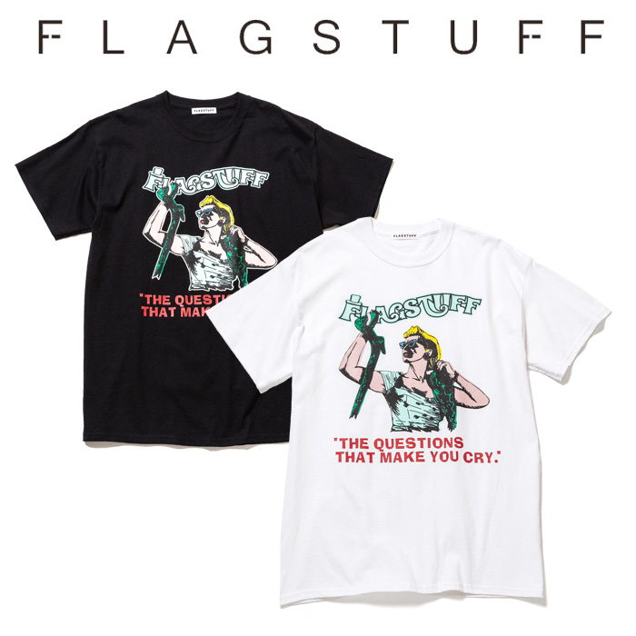 "F-LAGSTUF-F(フラグスタフ) ""QUESTIONS"" Tee  【2019 SPRING&SUMMER COLLECTION】 【F-LAGSTUF-F】【フラグスタフ】【フラッグス"
