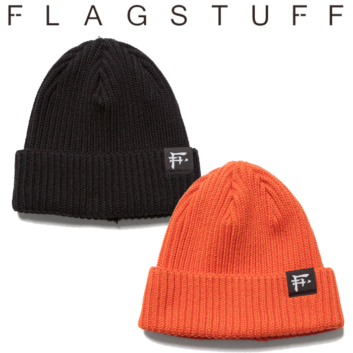 """F-LAGSTUF-F(フラグスタフ) """"F LOGO"""" KNIT CAP 【ニットキャップ 帽子】【20AW-FS-101】【F-LAGSTUF-F】【FLAGSTUFF】【フラグスタ"""