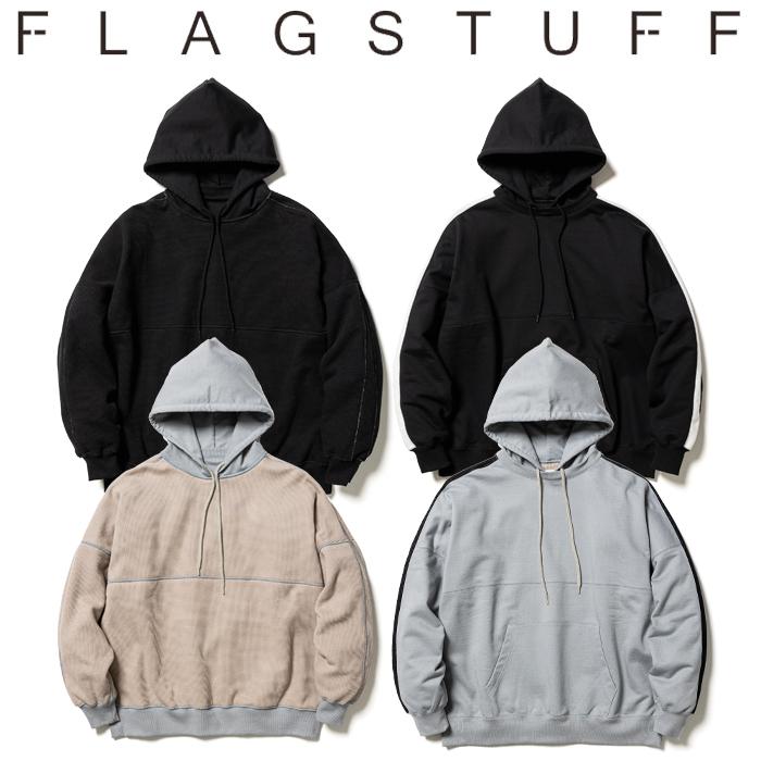 F-LAGSTUF-F (フラグスタフ)  REVERSIBLE LINE AFTER HOODIE 【リバーシブル フーディー パーカー】【21AW-FS-24】【F-LAGSTUF-F F