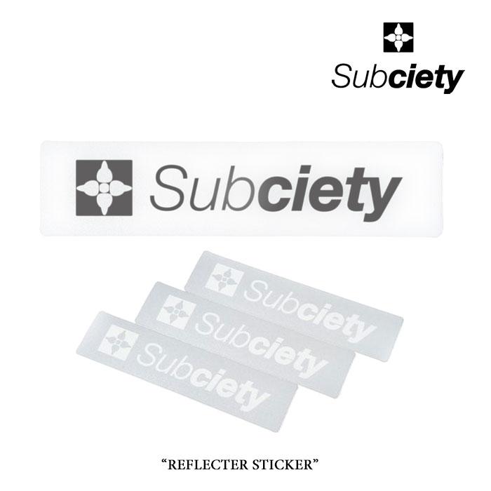 SUBCIETY SPORT(サブサエティ スポ-ツ) REFLECTOR STICKER - THE BASE - 【2018SPRING先行予約】 【キャンセル不可】 【SUBCIET