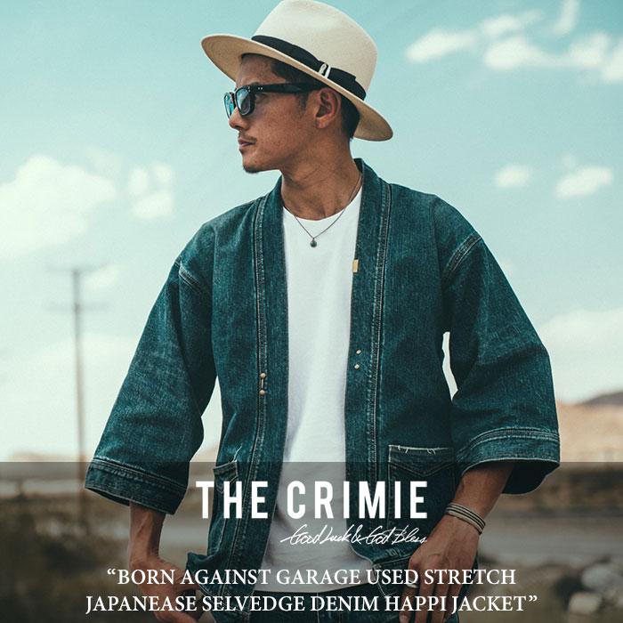 CRIMIE(クライミー) BORN AGAINST GARAGE USED STRETCH DENIM HAPPI JACKET 【2018SPRING/SUMMER先行予約】 【送料無料】【キャン