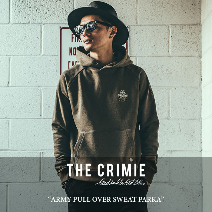 CRIMIE(クライミー) ARMY PULL OVER SWEAT PARKA 【2018SPRING/SUMMER新作】 【送料無料】【即発送可能】 【C1H1-SW04】 【CRIM