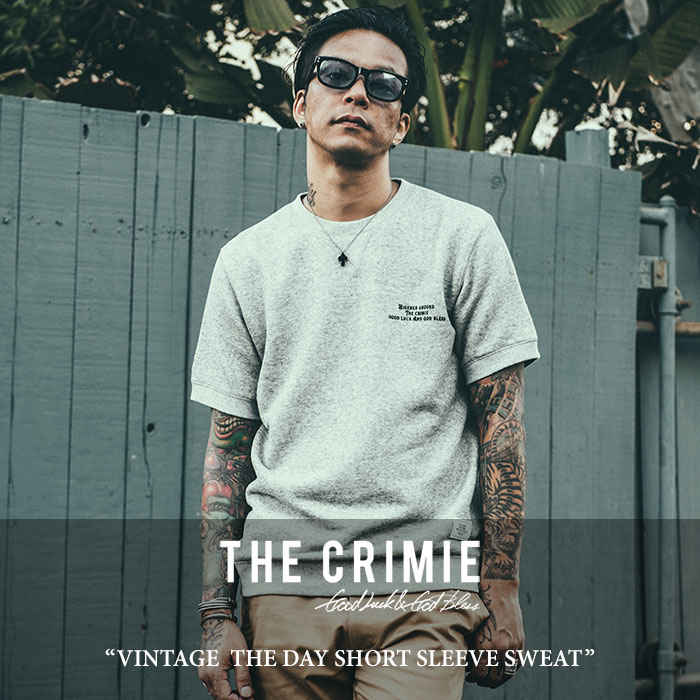 【SALE】 CRIMIE(クライミー) VINTAGE  THE DAY SHORT SLEEVE SWEAT 【2018SPRING/SUMMER新作】【C1H1-SW13】