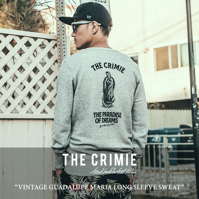 【SALE】 CRIMIE(クライミー) VINTAGE GUADALUPE MARIA LONG SLEEVE SWEAT 【2018SPRING/SUMMER新作】 【C1H1-SW17】