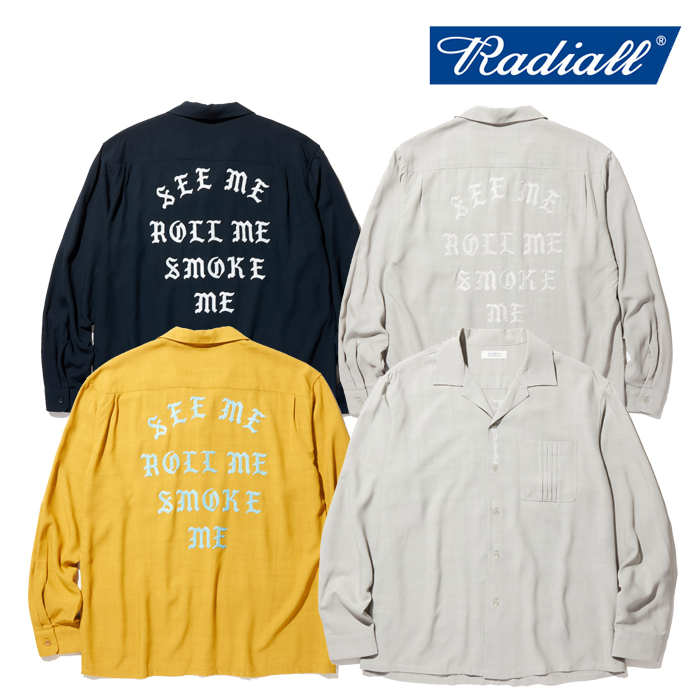 RADIALL(ラディアル) REGAL - OPEN COLLARED SHIRT L/S 【レーヨン オープンカラーシャツ】【RAD-20SS-SH011-01】【2020 SPRING&SU