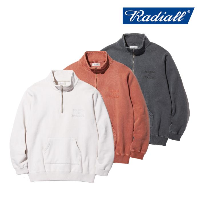 RADIALL(ラディアル) NOVA - STAND COLLARED SWEAT SHIRT L/S 【スウェット ハーフジップ シンプル 人気 秋冬新作】【送料無料】【
