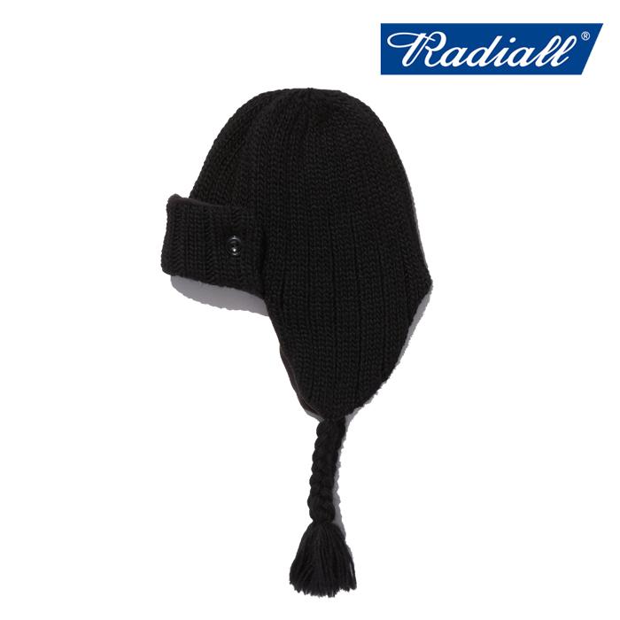RADIALL(ラディアル) CRYPT - FLIGHT CAP 【ニットキャップ 帽子 防寒 人気 秋冬新作】【送料無料】【2019 AUTUMN&WINTER COLLECTI
