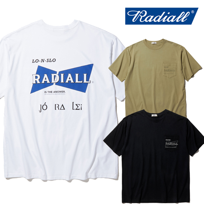 RADIALL(ラディアル) BOWTIE - CREW NECK POCKET T-SHIRT S/S 【Tシャツ 半袖】【2020 SPRING&SUMMER COLLECTION】【RAD-20SS-TEE0