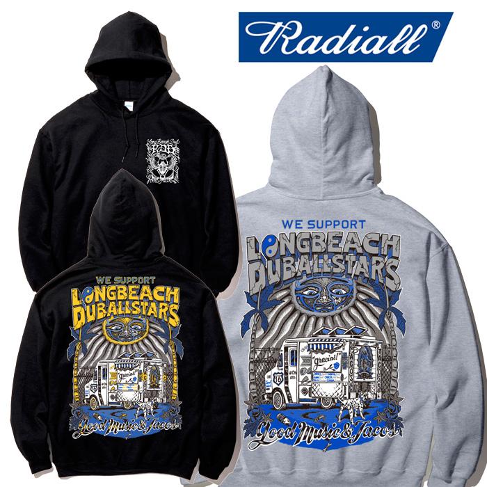 RADIALL(ラディアル) LONG BEACH - HOODIE SWEATSHIRT L/S 【スウェットパーカー】【2020年初売り限定アイテム】【RAD-19AW-SPOT-J