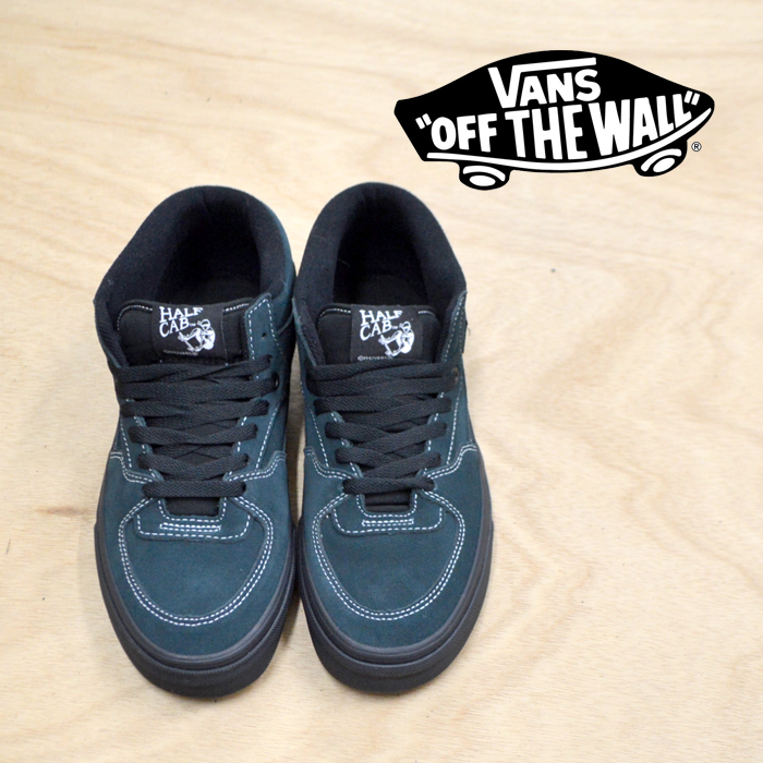 【VANS(バンズ)】 HALF CAB (BLACK OUTSOLE) DARKEST SPRUCE/BLACK 【VANS スニーカー】【ハーフキャブ】【VN0A348EU8U】