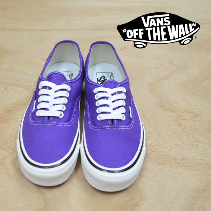 【VANS(バンズ)】 AUTHENTIC  44 DX  (ANAHEIM FACTORY) OG BRIGHT PURPLE 【即発送可能】 【VANS スニーカー】【VN0A38ENU6A】