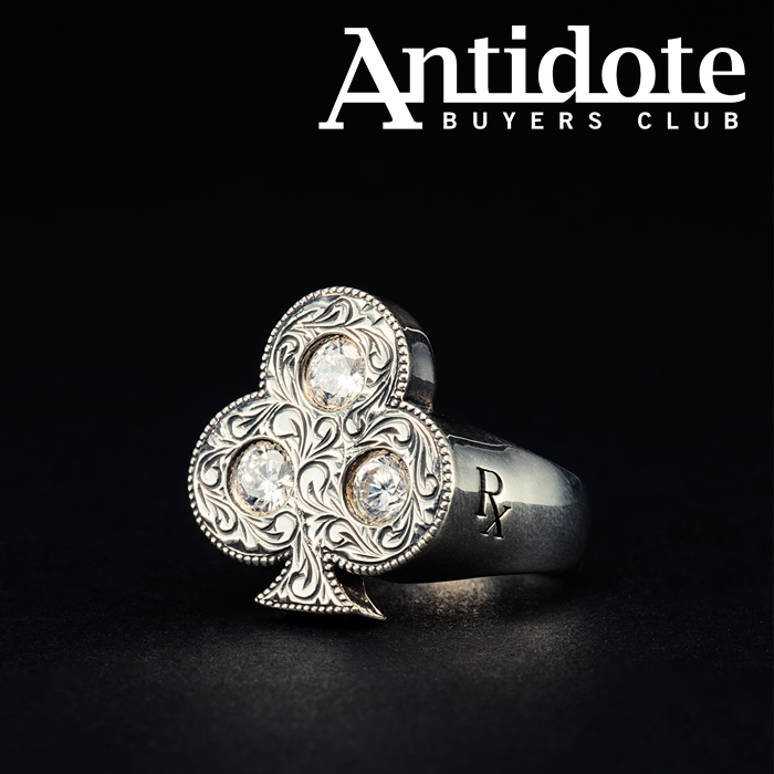 【再入荷】ANTIDOTE BUYERS CLUB(アンチドートバイヤーズクラブ) Engraved Club Ring 【RX-708-S】【リング 指輪 ピンキー Silver9
