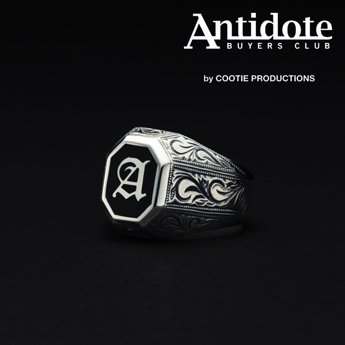 ANTIDOTE BUYERS CLUB(アンチドートバイヤーズクラブ) Engraved College Ring 【RX-710-S】【リング カレッジリング】【送料無料】
