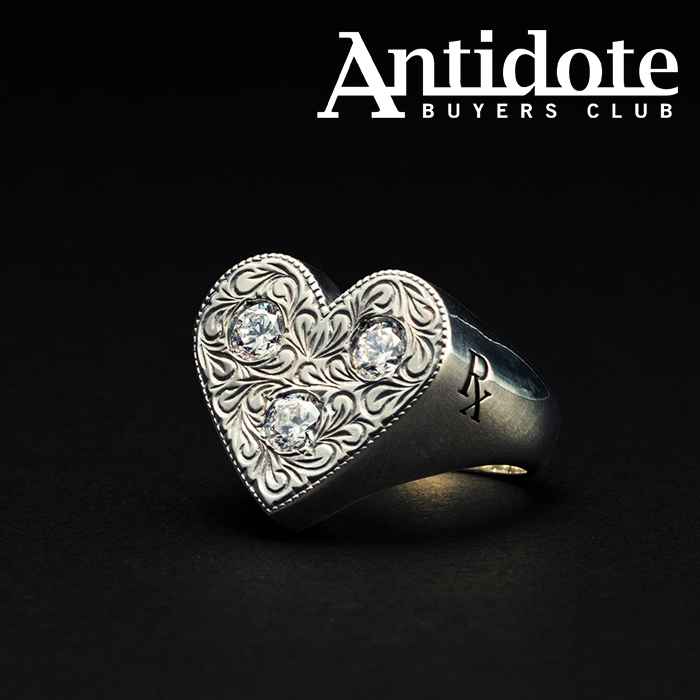 ANTIDOTE BUYERS CLUB(アンチドートバイヤーズクラブ) Engraved Heart Ring 【RX-711-1】【ハート リング 指輪】【送料無料】
