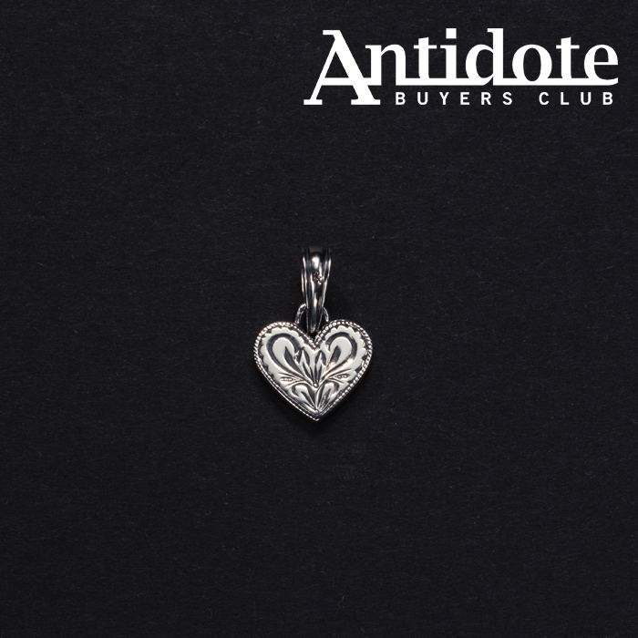 ANTIDOTE BUYERS CLUB(アンチドートバイヤーズクラブ) Engraved Heart Pendant 【RX-910-S】【クロス ペンダントトップ】【送料無