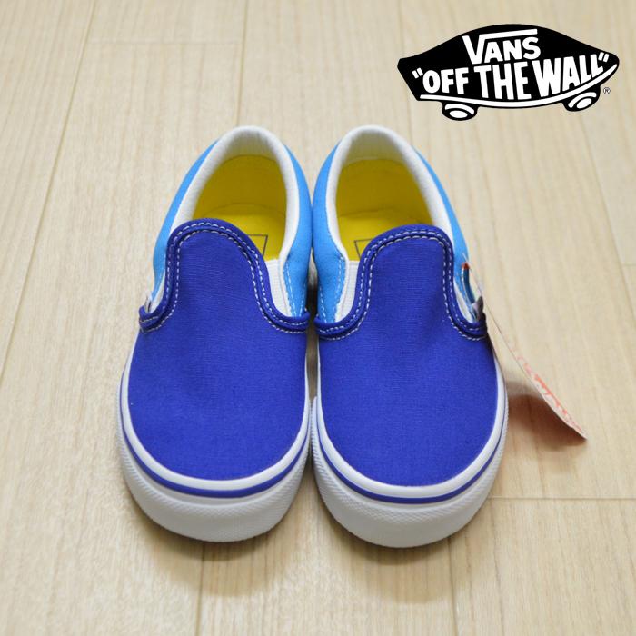 VANS (バンズ)(ヴァンズ) SLIP-ON (V Arcade)Dresden Blue/True White 【キッズ スリッポン】【子供 おしゃれ】【VANS KIDS】【VN0