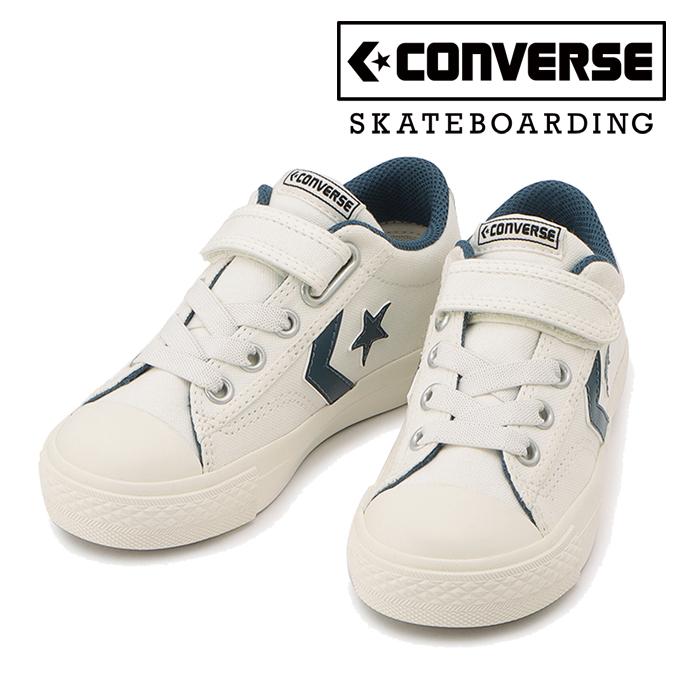 CONVERSE SKATEBOADING(コンバース スケートボーディング) KIDS BREAKSTAR SK V-1 OX(ホワイト/ネイビー) 【スニーカー】【コンバ