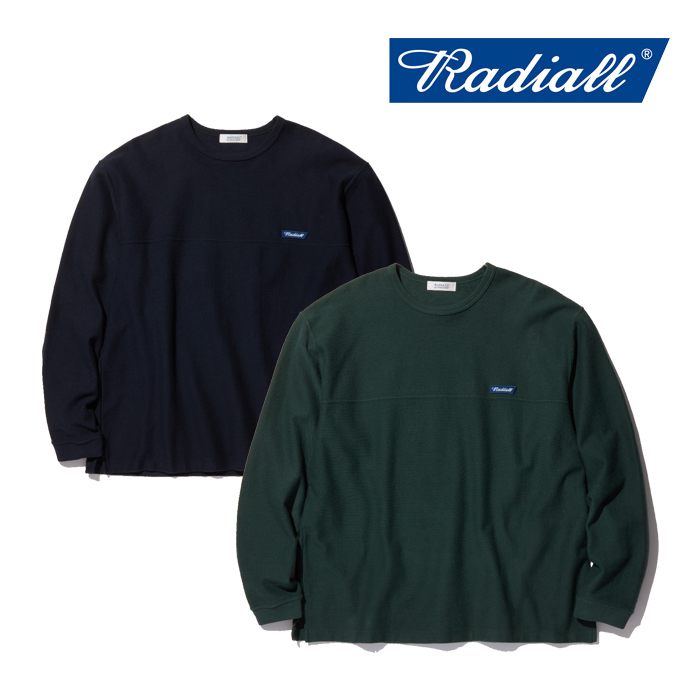 RADIALL(ラディアル) FLAGS-CREW NECK T-SHIRT L/S 【2019 AUTUMN&WINTER COLLECTION】 【RAD-19AW-CUT012】【フットボールTシャ