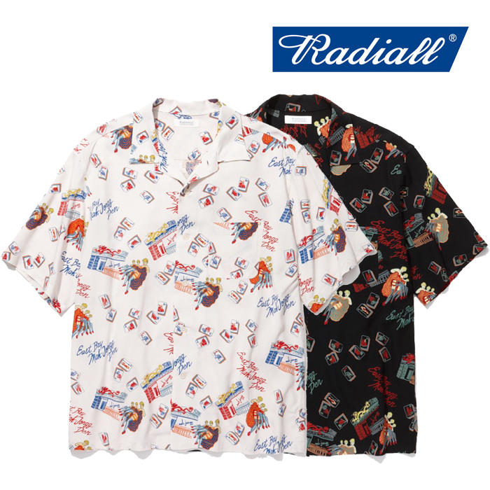 RADIALL(ラディアル) OAKTOWN-OPEN COLLARED SHIRT S/S 【2019 SPRING&SUMMER COLLECTION】 【RAD-19SS-SH002】【半袖 レーヨン