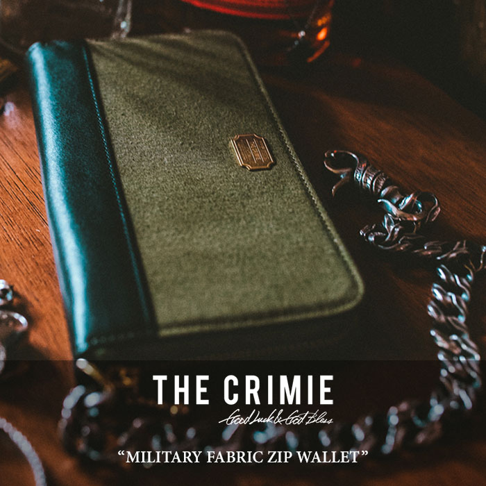CRIMIE(クライミー) MILITARY FABRIC ZIP WALLET 【2018 SUMMER新作】【C1H3-AC02】