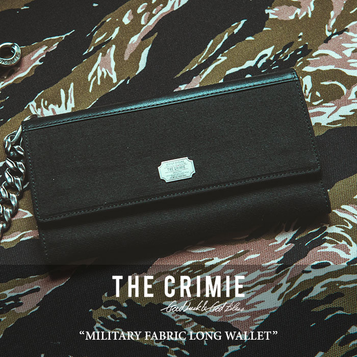 CRIMIE(クライミー) MILITARY FABRIC LONG WALLET 【2018 SUMMER新作】【C1H3-AC03】