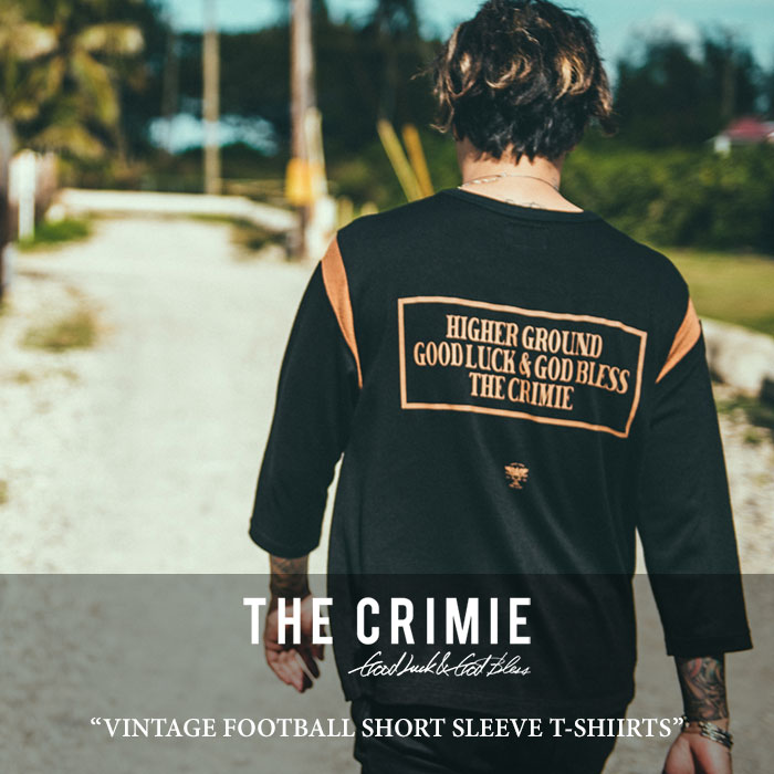 【SALE】 CRIMIE(クライミー) VINTAGE FOOTBALL SHORT SLEEVE T-SHIIRTS 【2018 SUMMER新作】【C1H3-CS12】