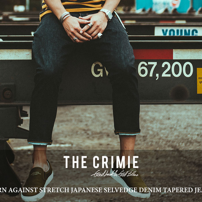 CRIMIE(クライミー) BORN AGAINST STRETCH JAPANESE SELVEDGE DENIM TAPERED JEANS 【2018 SUMMER先行予約】 【送料無料】【キャ
