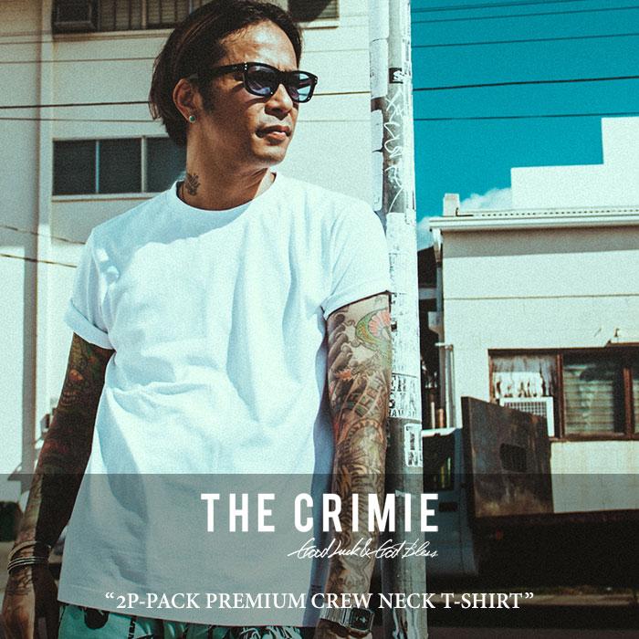CRIMIE(クライミー) 2P-PACK PREMIUM CREW NECK T-SHIRT 【2018 SUMMER先行予約】 【キャンセル不可】 【C1H3-CXTE-CR01】