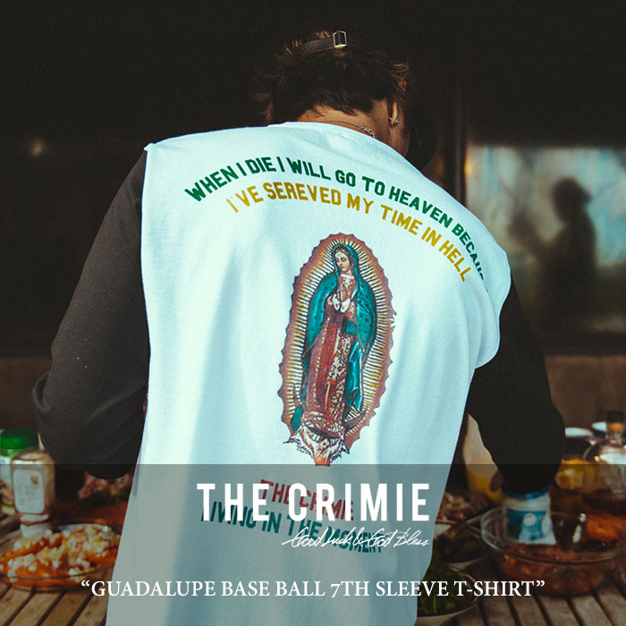CRIMIE(クライミー) GUADALUPE BASE BALL 7TH SLEEVE T-SHIRT 【2018 SUMMER新作】 【即発送可能】 【C1H3-TE14】