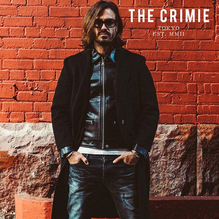 【SALE50%OFF】 CRIMIE クライミー ジャケット CASHMERE MELTON REVER CHESTER COAT 【チェスターコート ジャケット】【カシミヤ