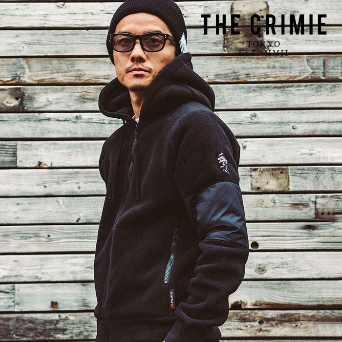 CRIMIE(クライミー) POLARTEC FLEECE ZIP PARKA 【フリースジップパーカー】【ブラック ポーラテック】【送料無料】 【CR01-01K5-