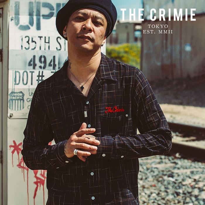 CRIMIE(クライミー) OPEN COLLAR JAZZ SHIRT 【オープンカラーシャツ】【レーヨン ブラック ブラウン チェック アメカジ】【CR01-0