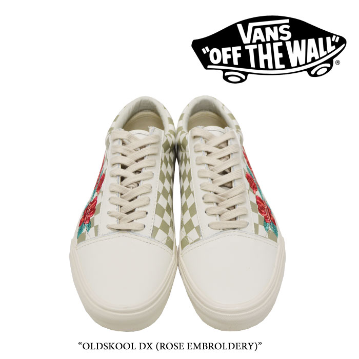 【VANS(バンズ)】 OLDSKOOL DX (ROSE EMBROLDERY) 【即発送可能】 【VANS スニーカー】 【VN0A38G3QF9】
