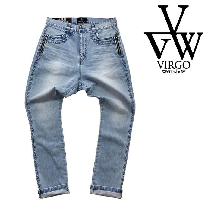 【SALE30%OFF】 VIRGO ヴァルゴ バルゴ ZIP PKT DENIM IND LIGHT USED 【女神織DENIMES×VIRGOwearworks】 【デニムパンツ】【VG-C