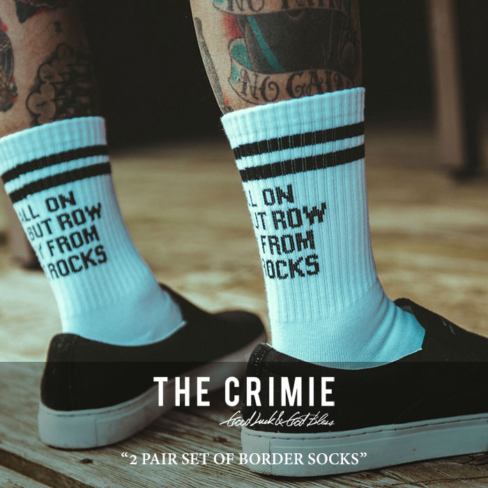 CRIMIE(クライミー) 2 PAIR SET OF BORDER SOCKS (2足ワンセット) 【2018 SUMMER新作】 【キャンセル不可】 【C1H3-AC30】