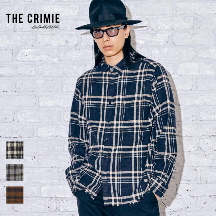 【取り寄せ対応】 CRIMIE クライミー SCOTT CHECK SHIRT CR1-02A5-SL08 21AW SCOTT チェックシャツ シャツ チェック トップス カジュ