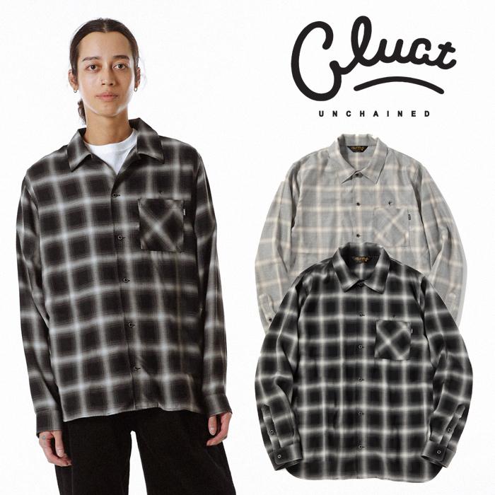 CLUCT(クラクト) CLT-CHECK L-SH 【チェックシャツ 長袖  おしゃれ】【黒ブラック グレー】【2020 SPRING&SUMMER COLLECTION新作】