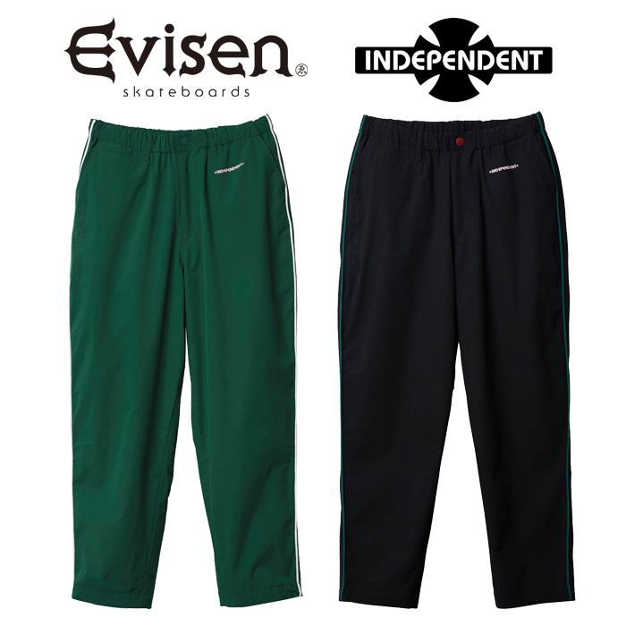 【EVISEN】 Evisen Skateboards (エヴィセン スケートボード)  INDEPENDENT x EVISEN PIPING PANTS  【ナイロンパンツ】【コラボレ