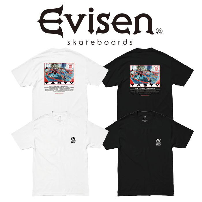 Evisen Skateboards (エヴィセン スケートボード) HOW TO TASTY 【Tシャツ 半袖 プリントT】【エビセン スケートボード Evisen Ska
