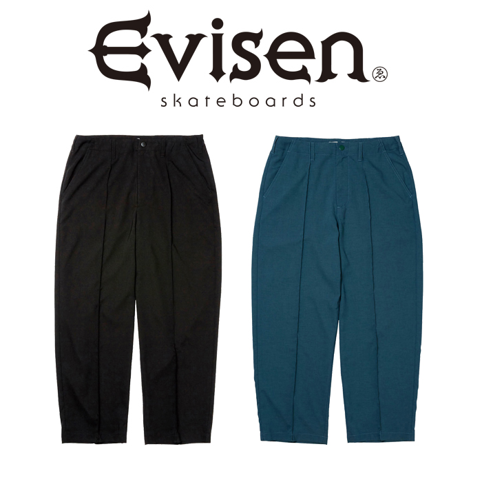 【EVISEN】 Evisen Skateboards (エヴィセン スケートボード)  PIN TUCK STRETCH SLACKS  【スラックス パンツ】【エビセン スケー